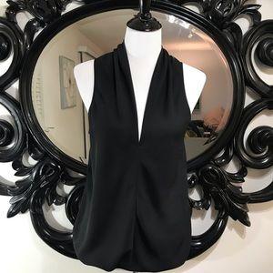 Express size M black sheer blouse